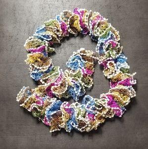 Multi-Color Ruffle Scarf